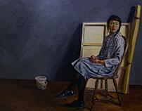 Jubilee in Artist Studio 40 x 56 in oil on canvas