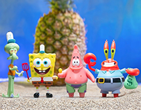 Spongebob Squarepants ReAction Figures for Super7