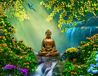 Buddha Landscape Paintings III