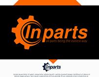 Inparts Logo Design