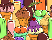 Cartoon Ice Cream Patterns