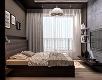 Concrete Bed room