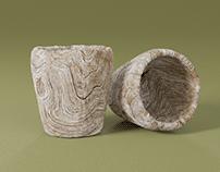 Handcarved Wooden Mug Concept Design