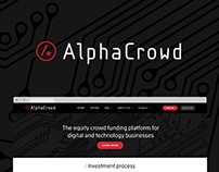 AlphaCrowd Brand Identity and Website