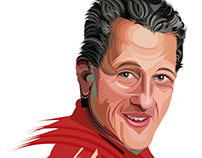 michael schumacher #kanchize portrait