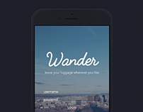 WANDER - Luggages Deposit APP