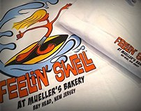 Feelin Swell at Mueller's Bakery T-shirt Illustration