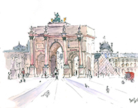 French sketching tour
