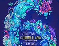 """Ilustración Festival """"Cuidemos el agua"""" 2018."""