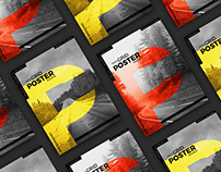 18x24 Grid Poster Mockup Free