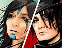 Bandits and Huntresses