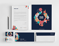 Colorful Modern Cool Stationery