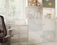 Children´s room - 3D visualization