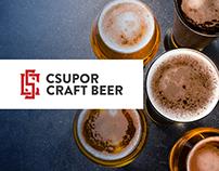 Csupor Craft Beer branding