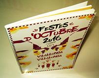 """Cartel de """"Les Festes d´Octubre """"  de Villalonga"""