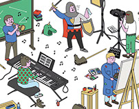 Illustration for Noto magazine n°10