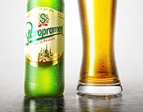 Cerveza 3D Render