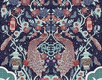 lentera peacock batik