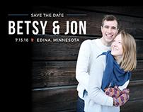 Betsy & Jon - Save the Dates