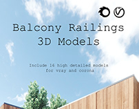 Balcony Railing 3D models for 3ds max