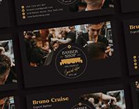Free Barber Shop Business Card Design