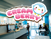 Creamberry Ice Cream Shop Logo