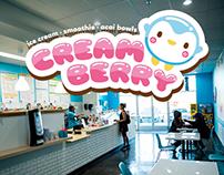 Creamberry Ice Cream Shop Logo