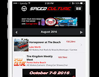 Speed Culture App Mobile Design
