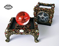 WIDDERSHINS Crystal Ball Display Box