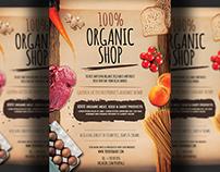 Organic Shop Flyer Template