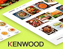Website Kenwood with catalog of recipes