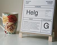 """Typeface Catalogue """"Para cada tipo, um café."""""""