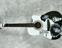 Customised guitar