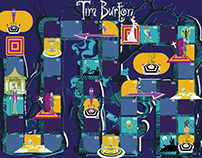 Illustration • Jeux Oies • Tim Burton