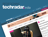Redesigning techradar India website