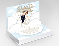 Pop-up wedding invitation