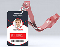 ID Card Design with Free Mockup
