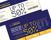 Lufthansa '50%' promotion