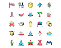 Colombia Icon Set