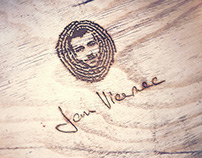 Logo for an artistic carpenter Jan Vicenec