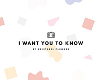 I Want You To Know