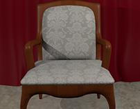 Louis XV chair 3D
