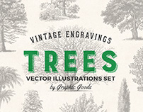 Trees – Vintage Illustrations Set