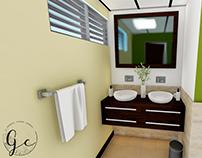 Propuesta re-diseño de baños para oficinas.