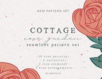 Cottage Rose Garden Pattern Set