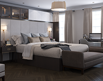 CGI for a master bedroom, London