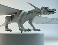 Dragon - Basic model pose - turntable