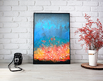 Abstract Fire oil paint