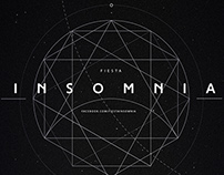 INSOMNIA - Party flyer