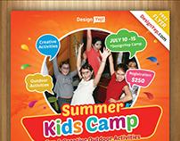 Free Kids Summer Camp Flyer PSD Template